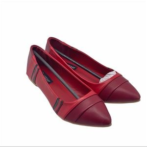 IRON FIST NIB Red Crayon Faux Leather Ballet Flats